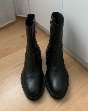 H&M Studio Botas de tobillo negro Cuero