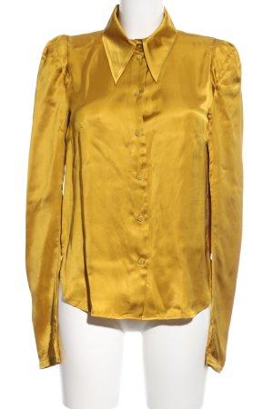H&M Studio Langarm-Bluse goldfarben Elegant