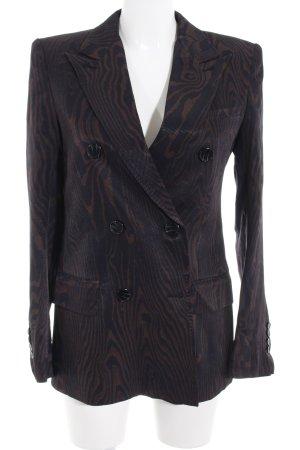 H&M Studio Long-Blazer schwarz-braun Zierknöpfe