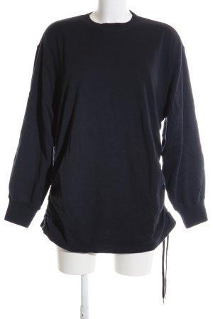 H&M Studio Oversized Pullover schwarz Casual-Look