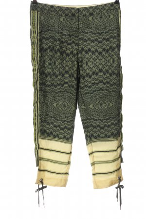 H&M Studio Stoffhose khaki-creme Allover-Druck Casual-Look