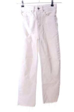H&M Studio Straight-Leg Jeans creme Casual-Look