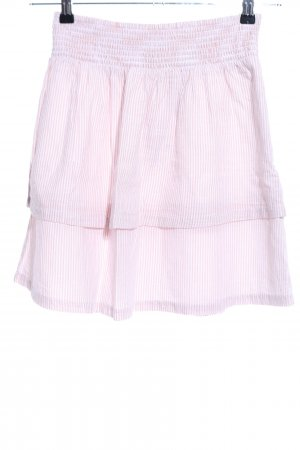 H&M Broomstick Skirt pink-white striped pattern casual look