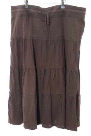 H&M Stufenrock braun Casual-Look