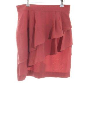 H&M Broomstick Skirt red elegant