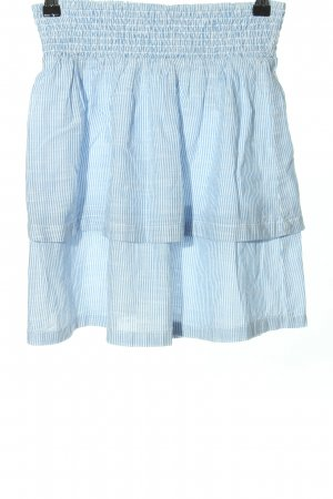 H&M Broomstick Skirt blue-white striped pattern casual look