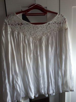 H&M süße Bluse mit Spitze Gr.XL