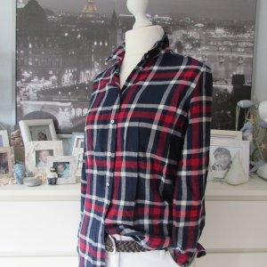 H&M * Süße Karo Bluse Hemd * navy-rot-weiß Karo * XS=34