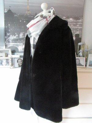H&M * Süßer Teddy Coat FakeFur Mantel Webpelz * schwarz * 44/46