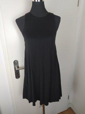 H&M süßes Jersey Kleid mit Taschen, schwarz, XS wie 34/36