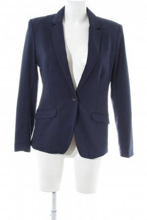 H&M Sweatblazer blau Business-Look