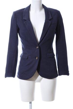H&M Sweatblazer blau-braun Business-Look