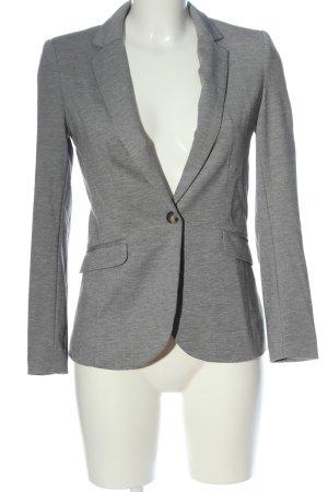 H&M Blazer de tela de sudadera gris claro moteado estilo «business»