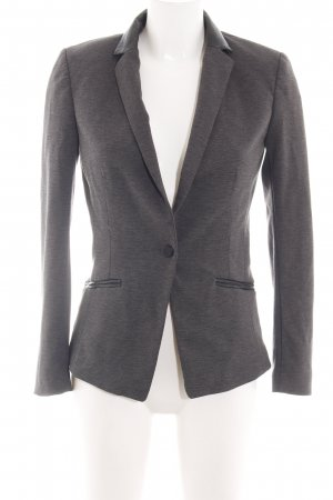H&M Sweatblazer hellgrau meliert Business-Look