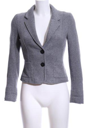 H&M Sweatblazer grau-hellgrau meliert Casual-Look