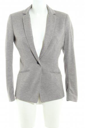 H&M Sweatblazer grau meliert Business-Look