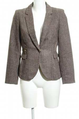 H&M Sweatblazer taupe-hellrot Business-Look