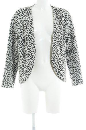 H&M Sweatblazer wollweiß-schwarz Leomuster schlichter Stil