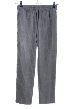 H&M Sweathose hellgrau-weiß Streifenmuster Casual-Look