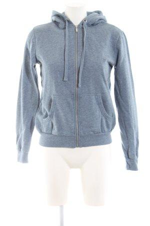 H&M Sweatjacke blau meliert Casual-Look