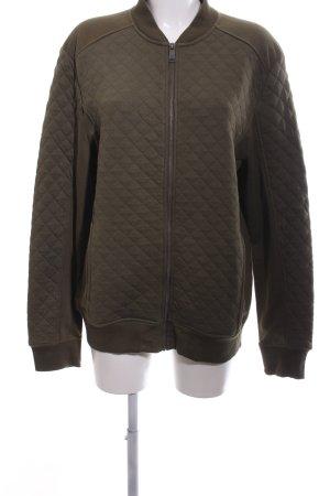 H&M Sweatjacke khaki Steppmuster Casual-Look