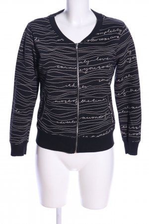 H&M Sweatjacke schwarz Allover-Druck Casual-Look
