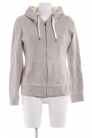 H&M Sweatjacke hellbeige-weiß sportlicher Stil