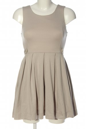 H&M Vestido de tela de sudadera blanco puro elegante