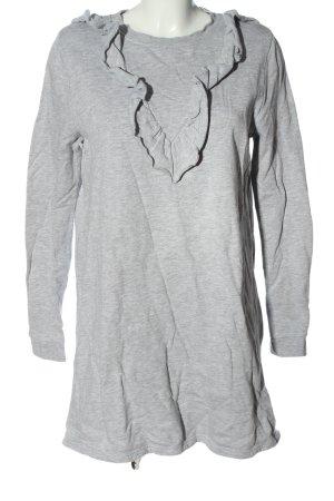 H&M Vestido de tela de sudadera gris claro moteado look casual