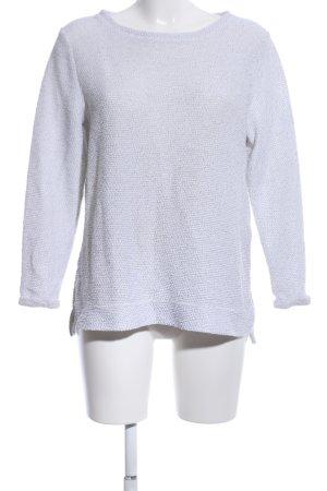 H&M Suéter gris claro moteado look casual