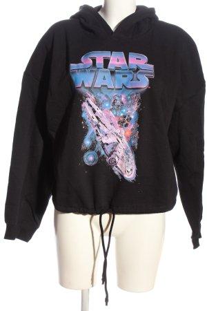 H&M Sweatshirt schwarz Motivdruck Casual-Look