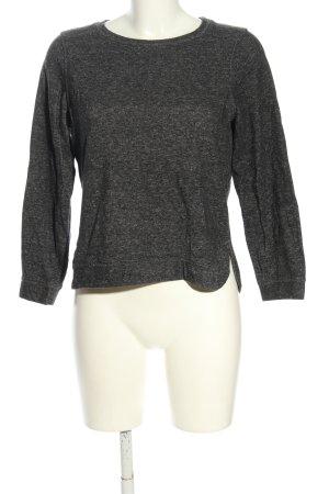 H&M Sweatshirt lichtgrijs gestippeld casual uitstraling