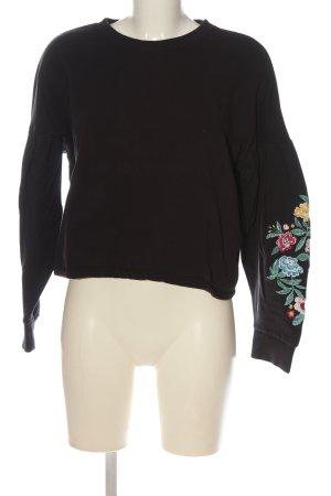 H&M Sweatshirt braun Blumenmuster Casual-Look