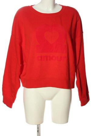 H&M Sweatshirt rot Schriftzug gedruckt Casual-Look