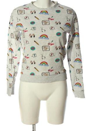 H&M Sweatshirt Motivdruck Casual-Look