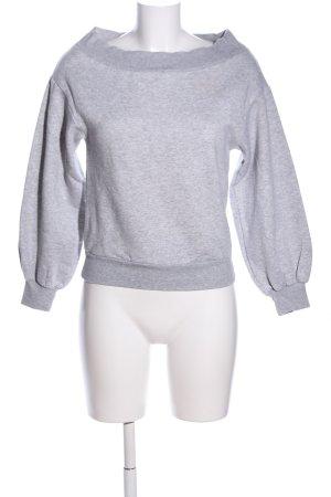 H&M Sweatshirt hellgrau meliert Casual-Look