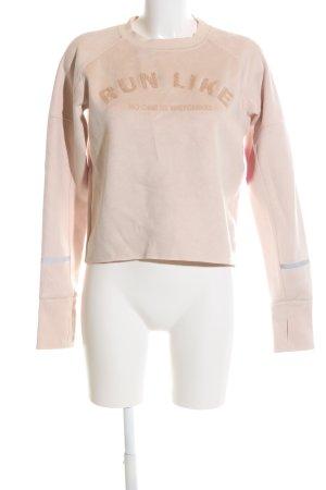 H&M Sweatshirt creme Schriftzug gedruckt Casual-Look