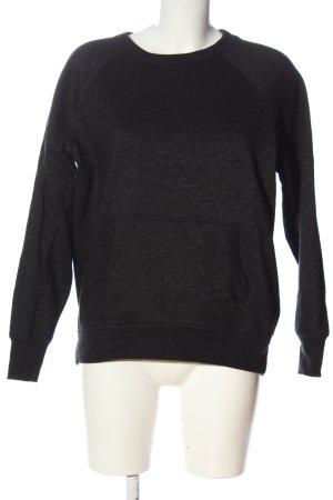 H&M Sweatshirt schwarz meliert Casual-Look