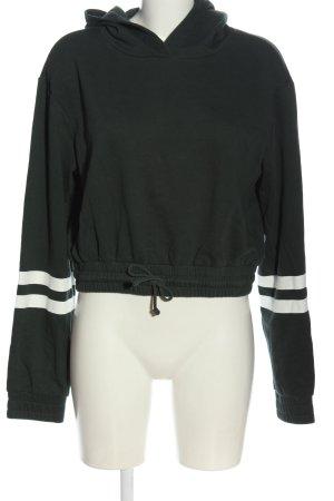 H&M Sweatshirt schwarz-wollweiß Streifenmuster Casual-Look