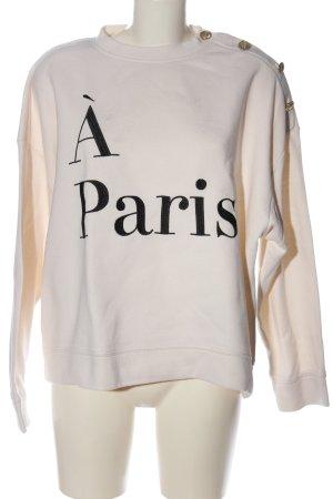 H&M Sweatshirt wollweiß Schriftzug gedruckt Casual-Look