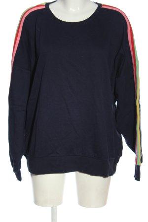 H&M Sweatshirt blau Streifenmuster Casual-Look