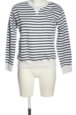 H&M Sweatshirt weiß-schwarz Streifenmuster Casual-Look