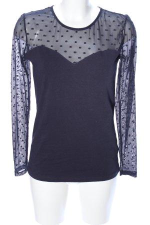 H&M Sweatshirt blauw gestippeld patroon elegant