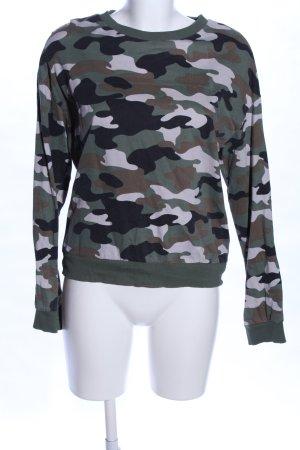 H&M Sweatshirt Camouflagemuster Casual-Look