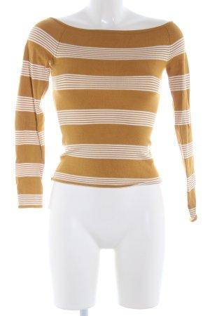 H&M Sweat Shirt brown-natural white striped