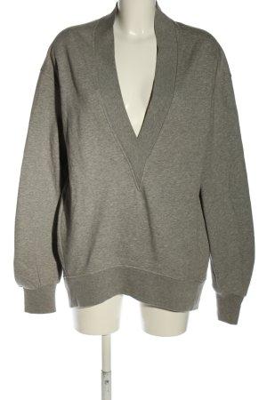 H&M Felpa grigio chiaro puntinato stile casual