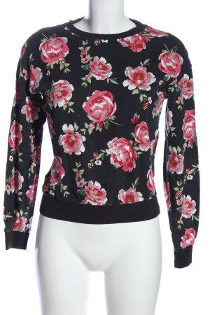 H&M Bluza dresowa czarny-różowy Na całej powierzchni W stylu casual