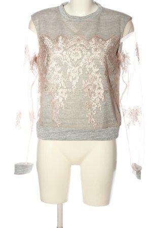 H&M Sweatshirt hellgrau Casual-Look