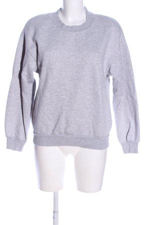 H&M Sweatshirt hellgrau-schwarz meliert Casual-Look