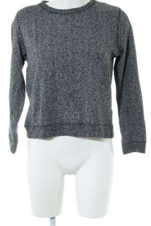 H&M Sweatshirt hellgrau-silberfarben meliert Casual-Look